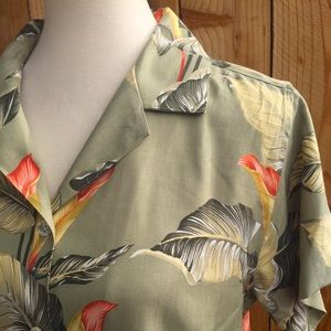 Tommy Bahama 100% Silk Tropical Floral Button Down